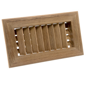 "Whitecap Teak Air Conditioning Vent - 9-3/4"" x 5-3/4"" x 1-1/2"""
