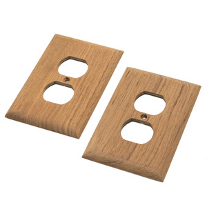 Whitecap Teak Outlet Cover/Receptacle Plate