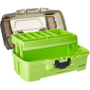 Plano 1-Tray Tackle Box w/Dual Top Access - Smoke & Bright Green