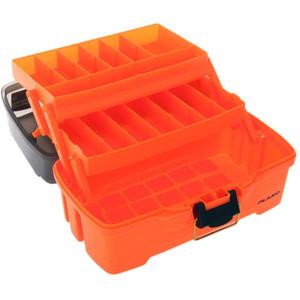 Plano 2-Tray Tackle Box w/Dual Top Access - Smoke & Bright Orange