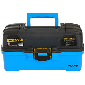 Plano 3-Tray Tackle Box w/Dual Top Access - Smoke & Bright Blue