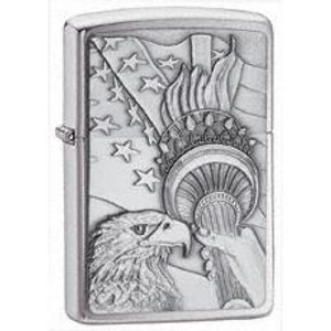 Zippo Brushed Chrome Patriotic Eagle Lighter