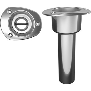 Mate Series Stainless Steel 0 Rod & Cup Holder - Open - Oval Top