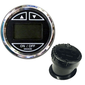 """Faria 2"""" Depth Sounder w/In-Hull Transducer - Black - Stainless Steel Bezel"""