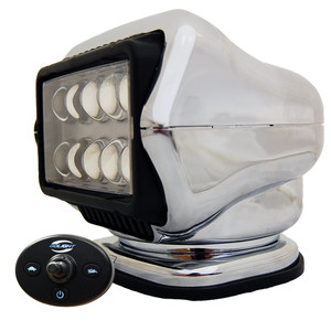 Golight LED Stryker Searchlight w/Wired Dash Remote - Permanent Mount - Chrome