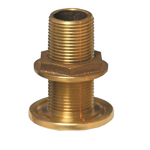 "GROCO 1"" NPS NPT Combo Bronze Thru-Hull Fitting w/Nut"