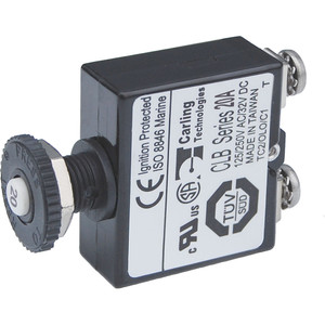 Blue Sea Push Button Reset Only Screw Terminal Circuit Breaker - 20 Amps