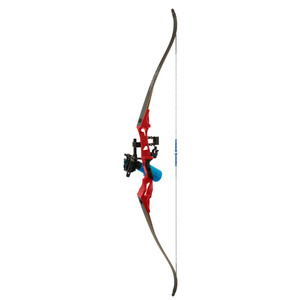 Fin Finder Bank Runner Bowfishing Recurve Package W/winch Pro Bowfishing Reel Red 35 Lbs. Rh
