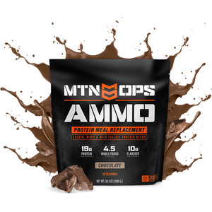 Mtn Ops Ammo Whey Protein Meal Replacement Chocolate