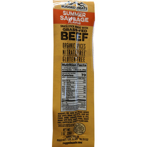 Rugged Meats Snack Sticks Beef Summer Sausage 10 Pk.