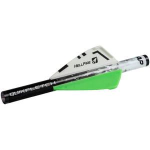 Nap Quikfletch Hellfire White/green/green 2 In. 6 Pk