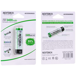 Nextorch Rechargeable Battery 3400 Mah