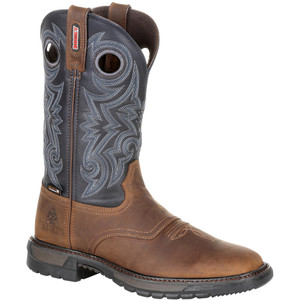 Rocky Original Ride Flx Boot Buck Skin/blue 12