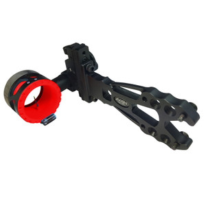 Axion Shift Single Pin Sight .019in Black w/Red Guard Ring