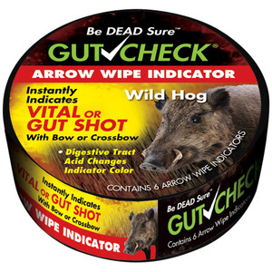 Gut Check Arrow Wipe Indicators Hog 6 Pk.