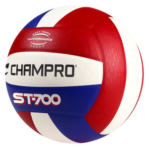 Champro Pro Perform Volleyball Scarlet White Royal Blue