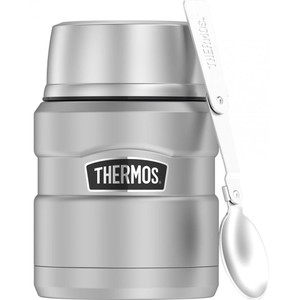 Thermos 16oz Stainless Steel Food Jar w/Folding Spoon - 9 Hours Hot/14 Hours Cold