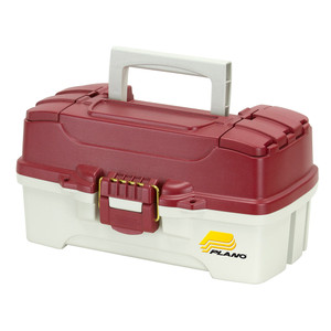 Plano 1-Tray Tackle Box w/Duel Top Access - Red Metallic/Off White