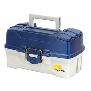 Plano 2-Tray Tackle Box w/Duel Top Access - Blue Metallic/Off White