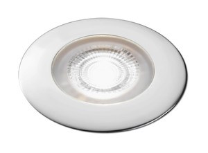 Aqua Signal Atlanta LED Downlight - White/Red LED w/Chrome Housing