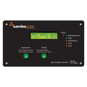 Samlex Flush Mount Solar Charge Controller w/LCD Display - 30A