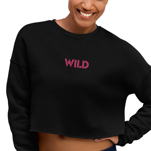 SC Crop Embroidery Sweatshirt