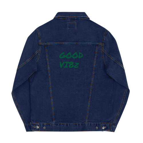 SC Unisex Good Vibz Denim Embroidery Jacket