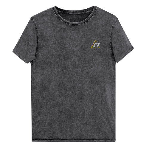 SC Black Denim Embroidery Unisex T-Shirt