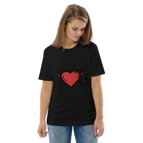 SC Unisex Organic Cotton Graphic Hearts T-Shirt