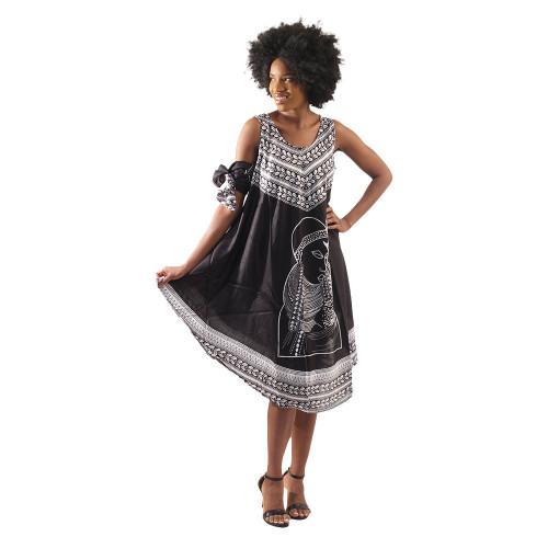 SC Sleeveless Umbrella Divine Dress & Head Wrap