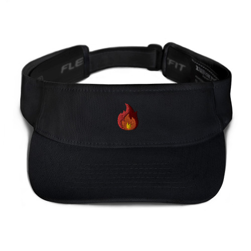 SC Flaming Embroidery Visor