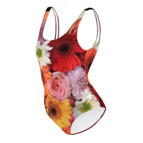 SC Floral Print One-Piece Swimsuit