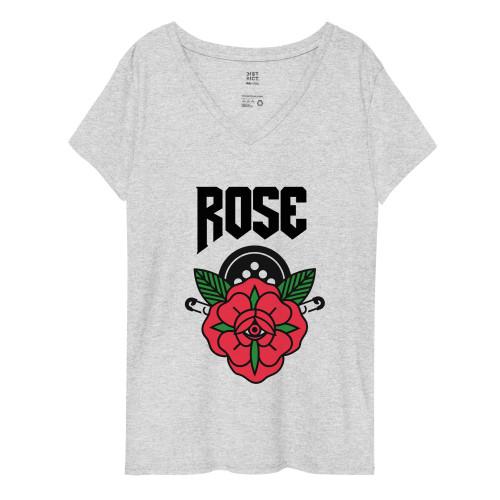 SC Women's Recycled V-Neck  Rose T-Shirt