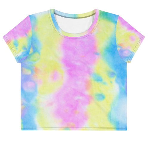 SC Tie Dye All-Over Print Crop Tee