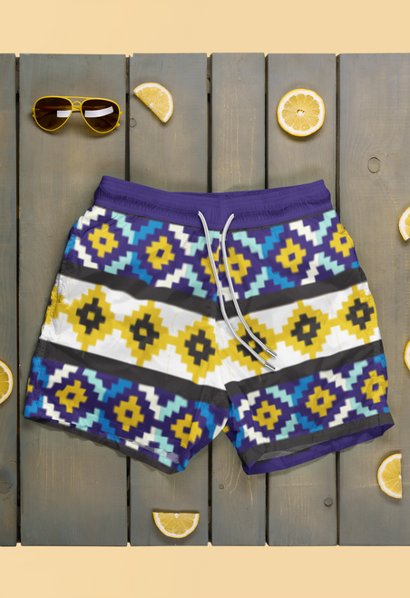 SC  Eco-Friendly  All-Over Print Swim Shorts *Out Of Stock*