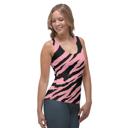 SC Pink Stripe Sublimation Cut & Sew Tank Top