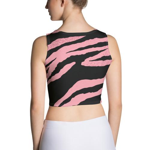SC Pink Stripe Crop Top