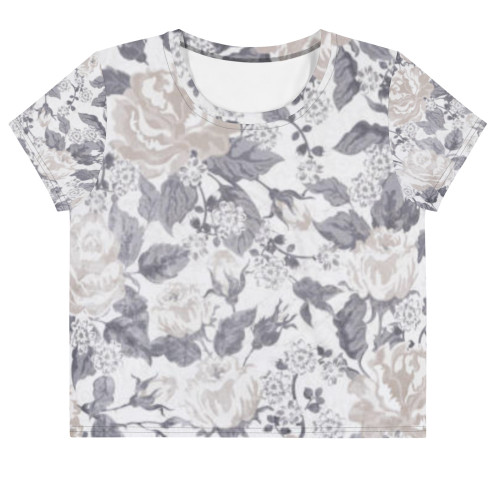SC All-Over  Floral Print Crop Tee