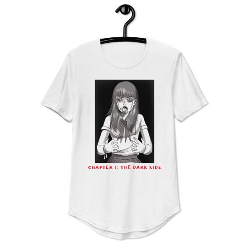 SC Men's Curved Hem Horror Anime T-Shirt