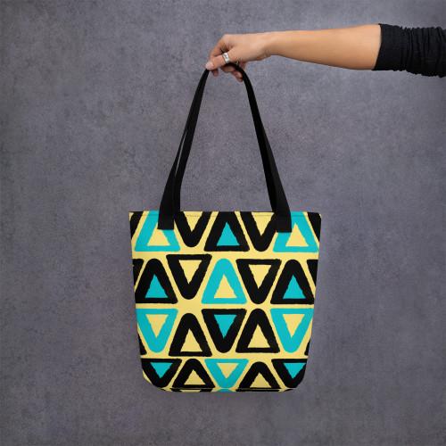 SC Geometric Print Tote bag