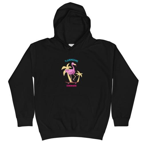SC Flamingoing Something Kids Hoodie