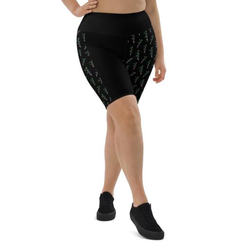 SC Plus Size  Floral Biker Shorts