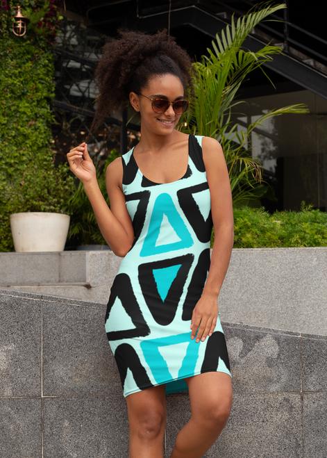 SC Slim-Fit All-Over-Print Dress