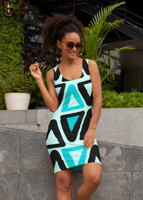 """SC Slim-Fit All-Over-Print Dress """"OUT OF STOCK"""""""