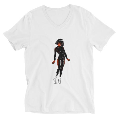 SC Men's Short Sleeve Anime V-Neck T-Shirt