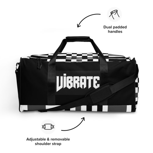 SC Vibrate Geometric All-Over Print Duffle Bag