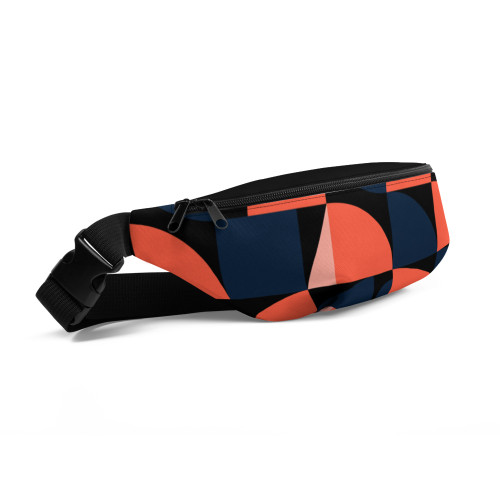 SC All-Over Print Geometric-Pattern Fanny Pack