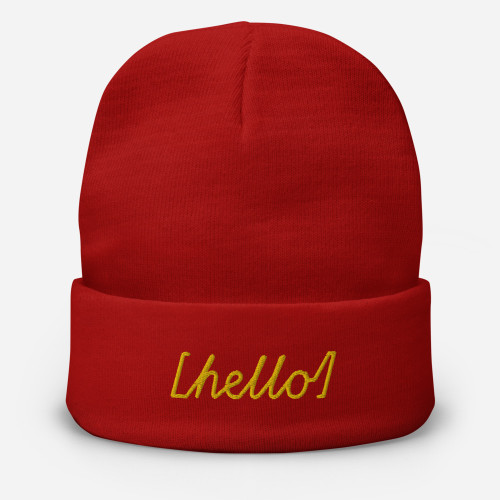 SC Embroidered Hello Beanie