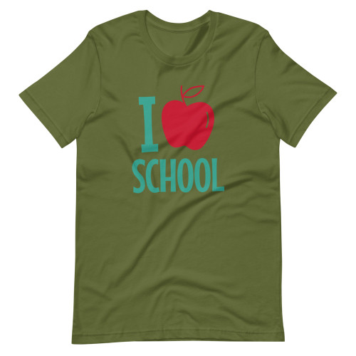 SC Short-Sleeve Unisex  I Love School T-Shirt