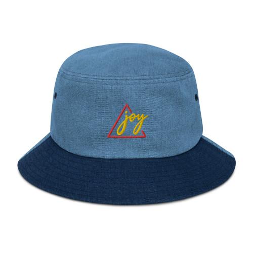 SC Joy 3D Embroidery Denim Bucket Hat
